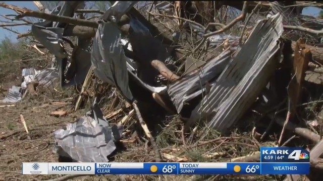 Tornado Damages Homes, Buildings and Property in Howard County