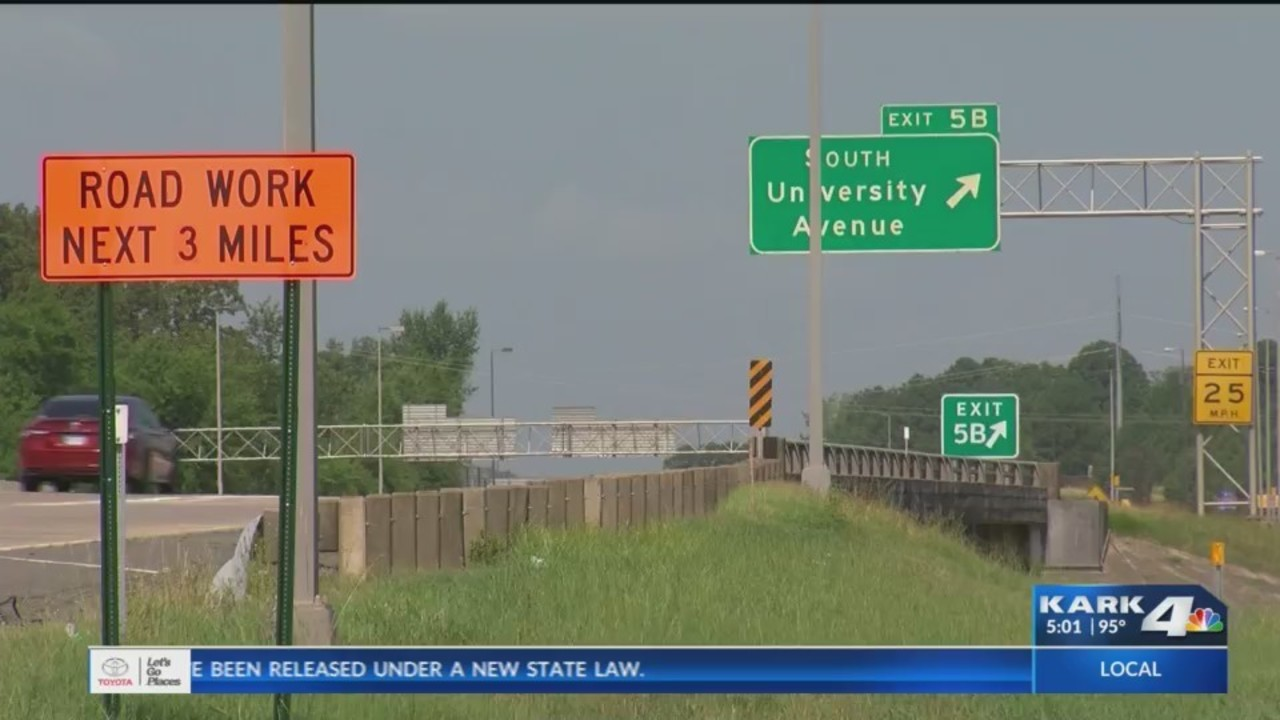 Construction requires overnight lane closures on i 630 in for Riverside motors little rock