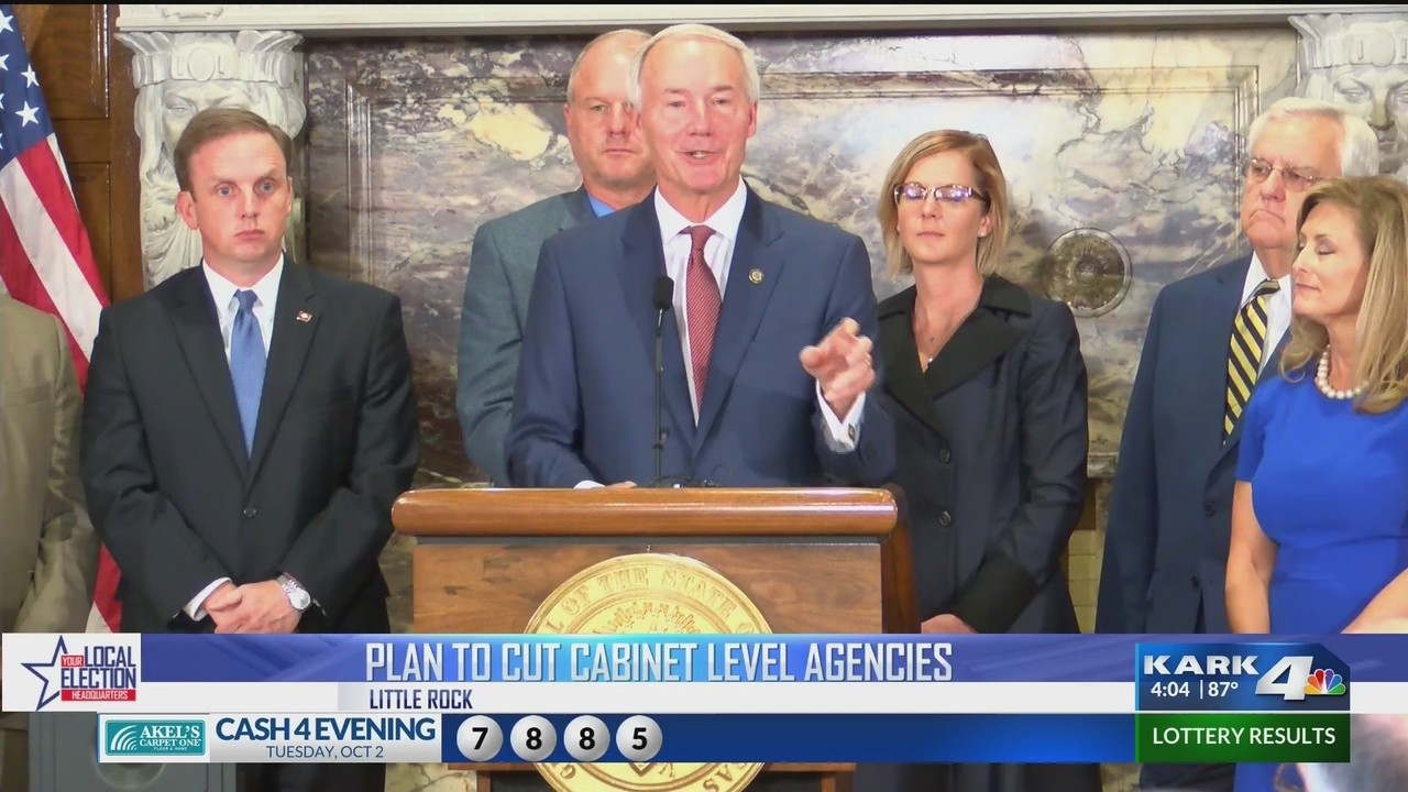 Governor Announces Plan To Cut Cabinet Level Agencies From 42 To 15