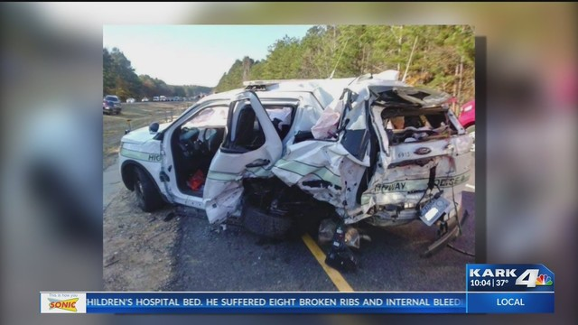 Officer Injured in Hot Spring Co  Accident