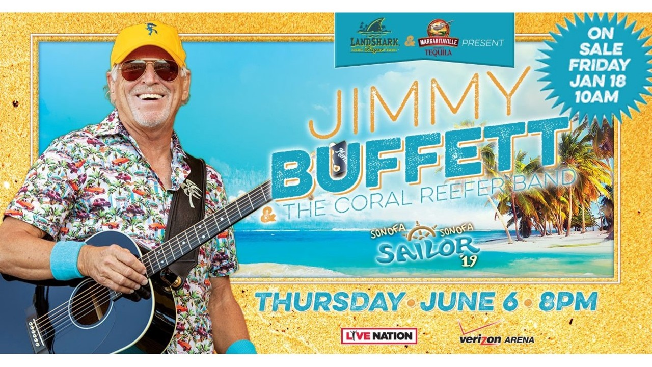 Jimmy Buffett Comes to Central AR in June 1cd39fc6a76