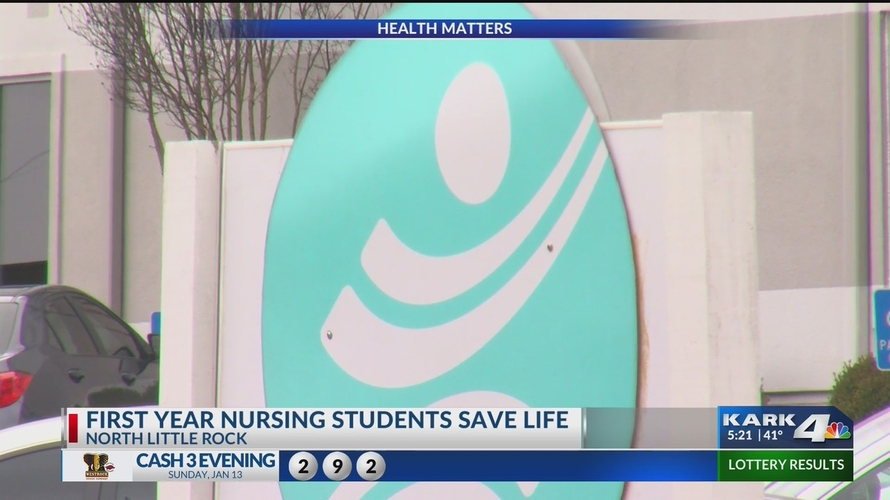First Year Nursing Students Save Life