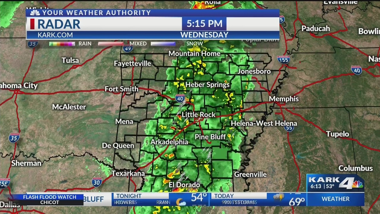 Little Rock Weather Map.Weather Forecast Update At 6