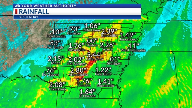 Record Rainfall Thursday, 4/18