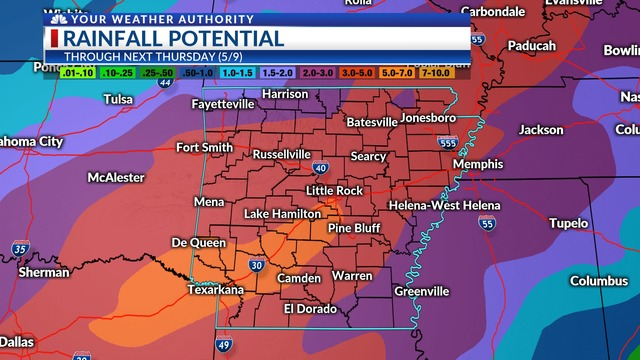 Severe weather threat lower, heavy rain likely Friday/Saturday