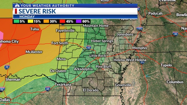 Severe Weather Possible Early This Week