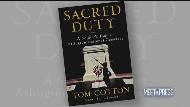 Tom Cotton on Meet the Press about his new book